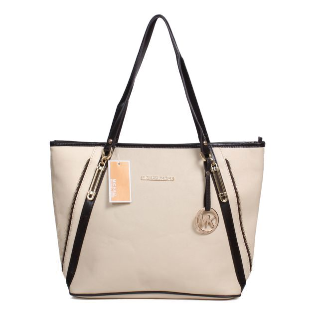 Michael Kors Jet Set Travel Zip Large White Totes Is So Attractive And Popular That More People Like It! #NYFW