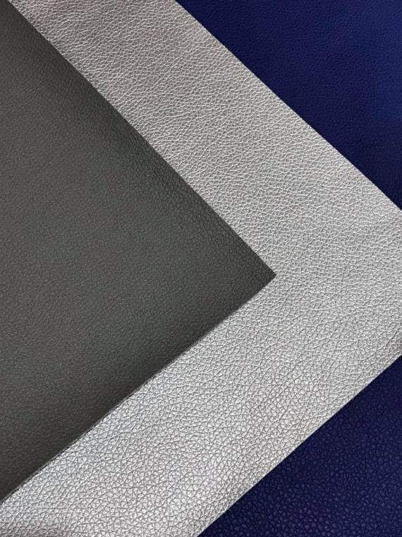 Grey-Navy-Silver 3 Pack Leatherette Sheets A4 8X11 or A5 Size