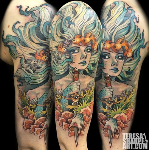 Neo Traditional Mermaid Tattoo: Cast & Crew Images On Pinterest