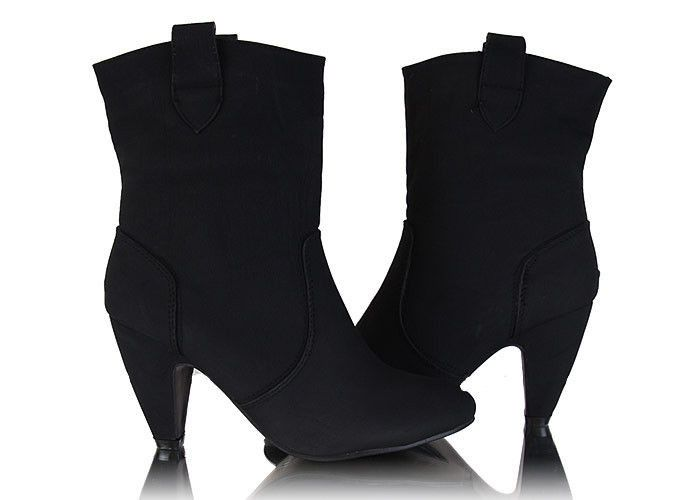 Czarne botki / Black boots / 29,90 PLN #boots #black #botki