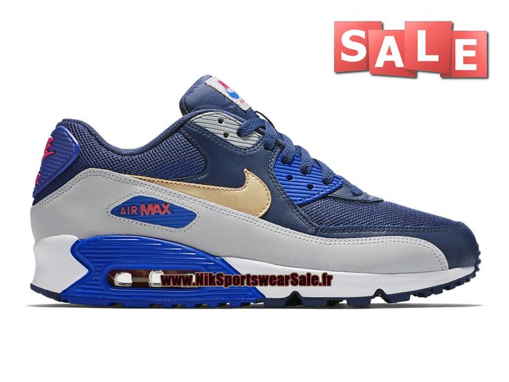 Nike Air Max 90 - Chaussures Nike Sportswear Sale Pour Homme Bleu spatial/Cactus…