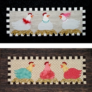 The Hen Party Pattern: Textile Arts, Chicken Quilts, Removed From, Applica Quilting, Hen Chicks Quilt, Da Net, Photo
