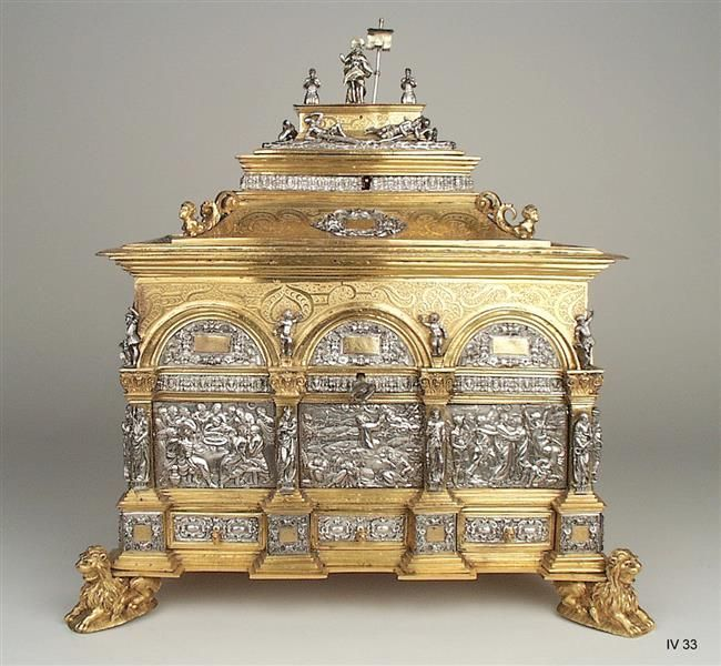 Gold and Silver Casket (Schmuckkassette) by Wenzel Jamnitzer, (1508-1585) Goldsmith Nürnberg, created 1560