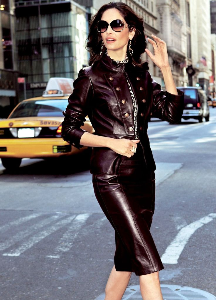 21 best How to wear leather over 40 images on Pinterest