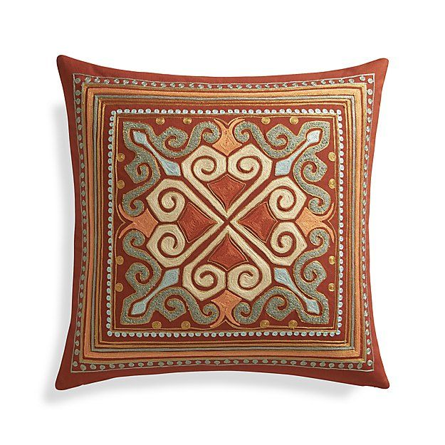 Orange Throw Pillows Crate And Barrel : 1000+ images about Pillow Toss on Pinterest Indigo, Splash of color and Feathers