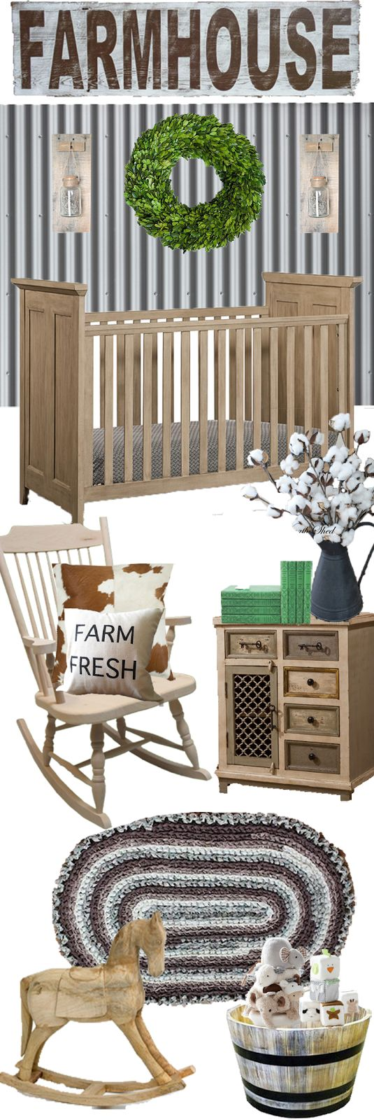 Farmhouse Themed Nursery//Fawn Over Baby