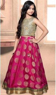 Pink Color Heavy Banarasi Brocade Fabric Readymade Kids Girl Gowns   FH00021025 #kidsgowns #kidswear #gownstyle #allthingsbridal #bridalsuits #ethnicfashion #celebrity #bollywooddesigns #bollywoodsuits #partywear #collection #wedding #womenswear #kuwait #luxerydress #princess #kidsdesigner #robedeprincesse #anniversaireenfant #vestitibambini #Turkey #istanbul #couturekidsclothes #kidstrends #heenastyle @heenastyle