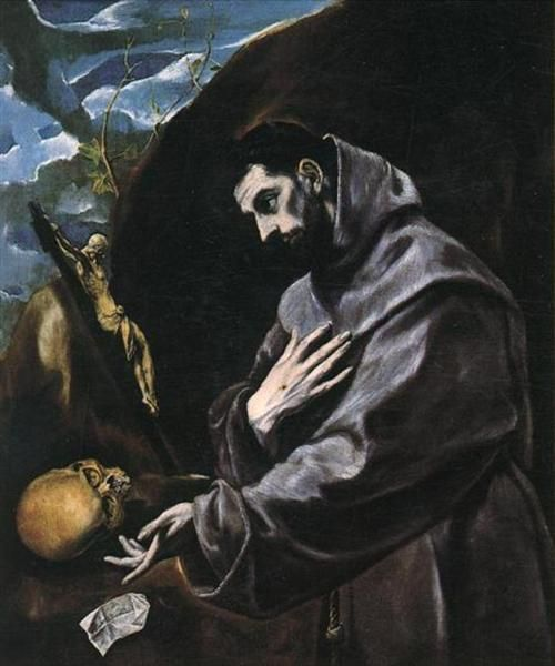 St. Francis praying, 1585 - El Greco