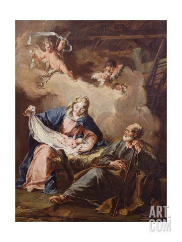 The Nativity, C.1730-40 Giclee Print by Giovanni Battista Pittoni at Art.com