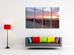 Photo de paysages au coucher du soleil en tryptique www.hexoa.fr