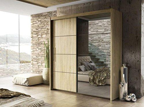 Modern Bedroom Wardrobe Sliding Door Inova Oak Sonoma 150cm sold by Arthauss