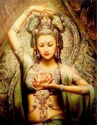 White Tara  Rappresenta l'attività compassionevole (sanscrito: karuna) e la conoscenza dell'intrinseca vacuità di ogni dualismo (prajñāpāramitā). Fonte: http://it.wikipedia.org/wiki/T%C4%81r%C4%81_%28Bodhisattva%29