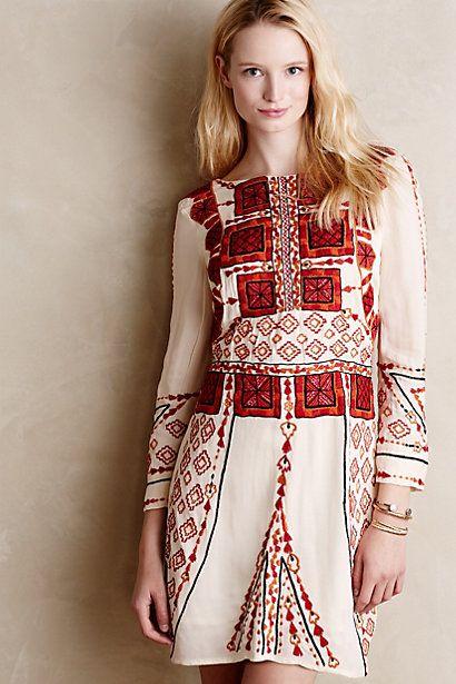 Embroidered Eira Dress #anthropologie #anthrofave