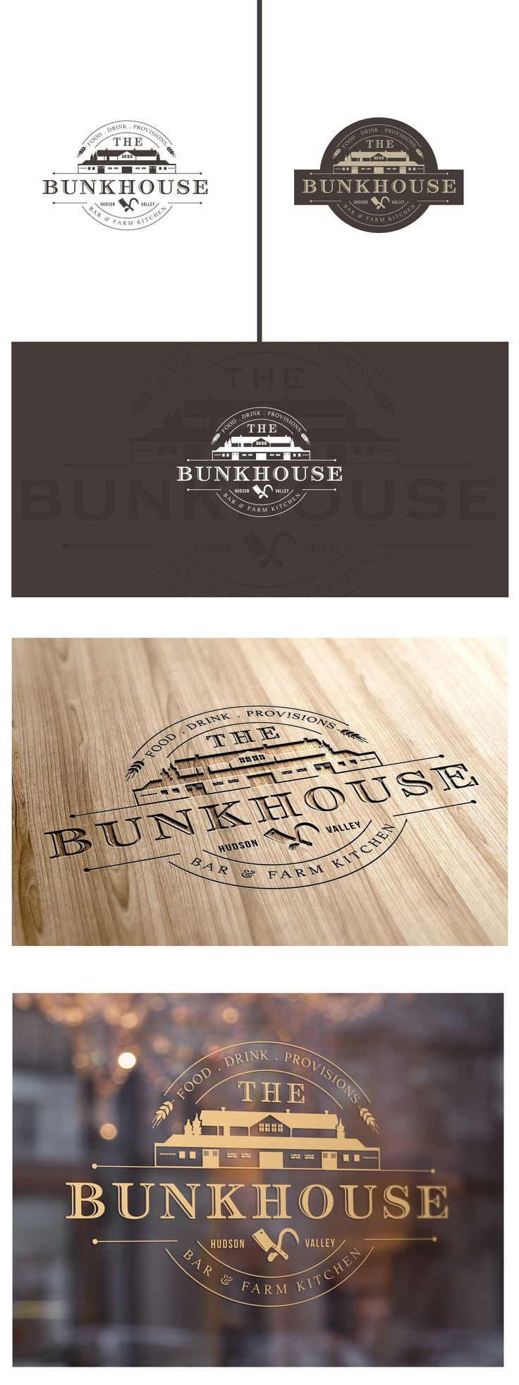 Logo design for historical bootleg distillery's farm-to-table restaurant