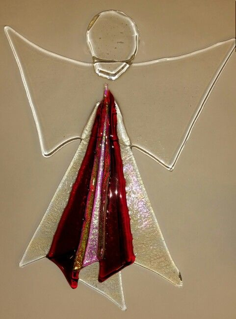 One of my fused glass angels...