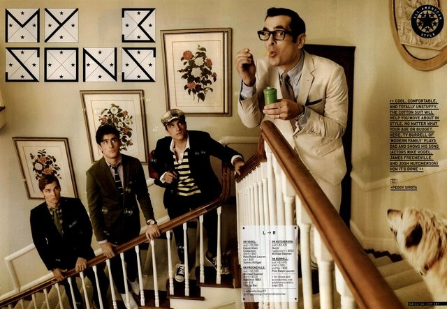 GQ Editorial My 3 Sons, March 2011