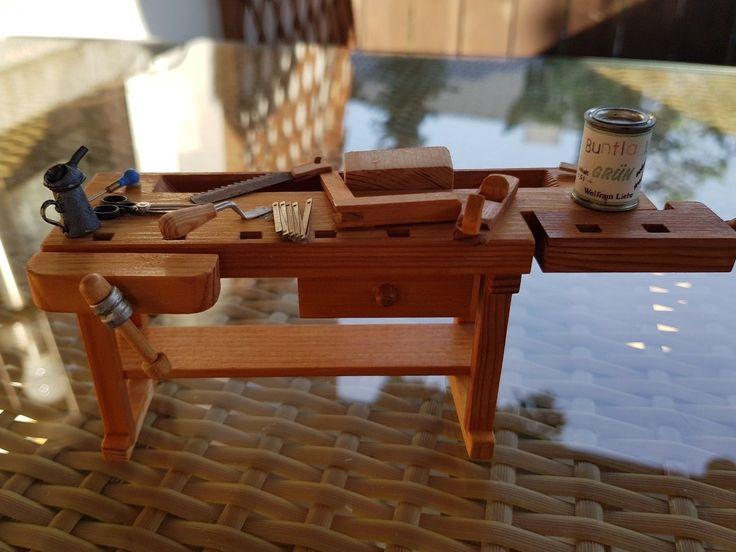 Wolfram Liebe Handgearbeitetes Werkzeugbank mit jeder Menge Zubehör 1:12 | eBay