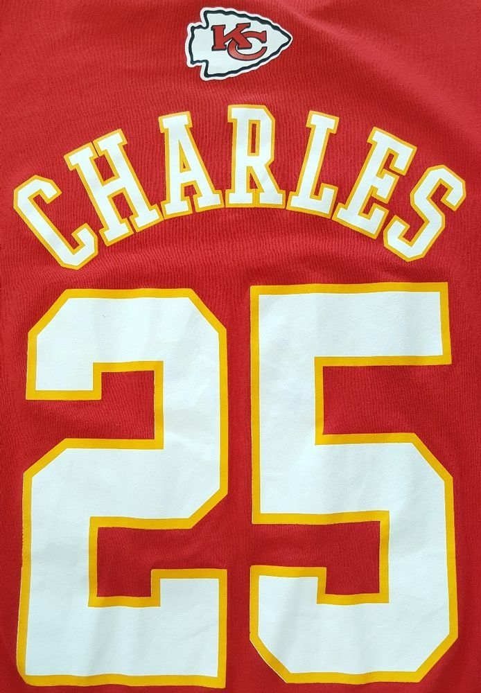 318c62a6 KANSAS CITY CHIEFS JAMAAL CHARLES #25 NFL Red T-Shirt Football Tee ...
