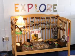 Science Center from a refurbished crib: kindergarten.