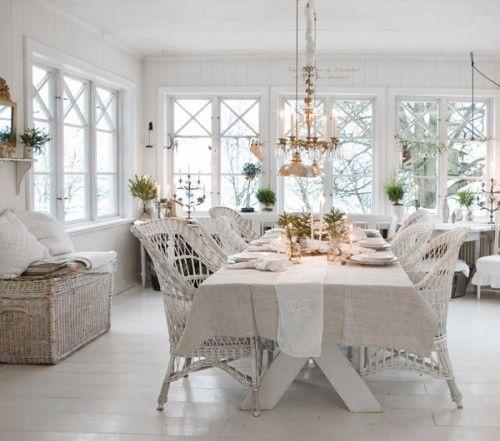 #shabby #white #dining glasveranda