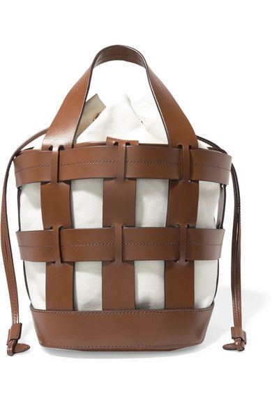 a66ea1c62c4d2 Trademark - Cooper caged leather and canvas tote in 2019 | Lust list ...