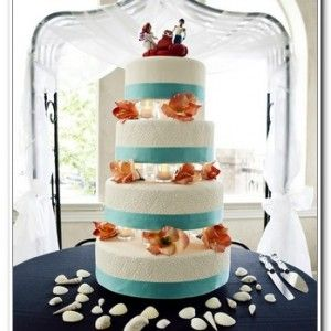 Little Mermaid Wedding Cake Toppers