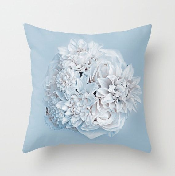 Winter Flower Pillow Cower DECORATIVE THROW by UniqueArtHome