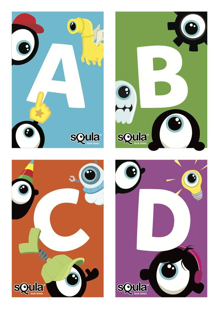 Speel je Squla in de klas op een digibord? Print deze handige ABDC-kaartjes voor de leerlingen, zodat ze individueel een antwoord kunnen geven.