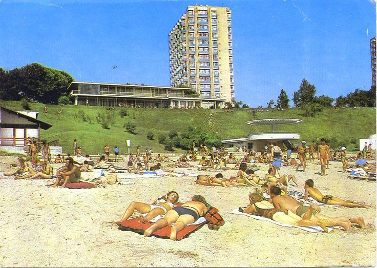 Vederi de demult: Eforie Nord, Plaja, 1987
