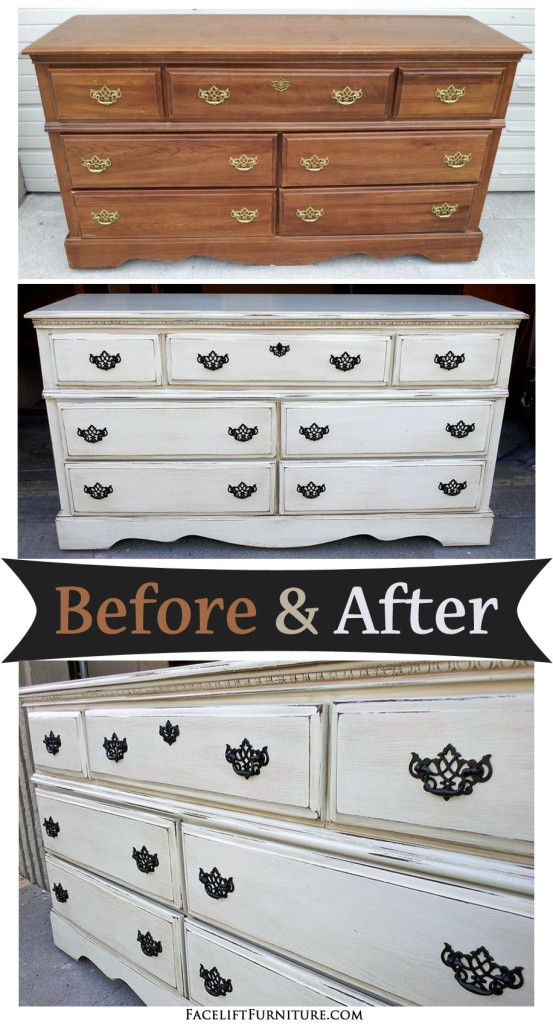 refinishing bedroom furniture ideas. off white dresser with espresso glaze before u0026 after refinished furnitureart refinishing bedroom furniture ideas