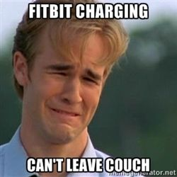 James Van Der Beek - fitbit charging can't leave couch