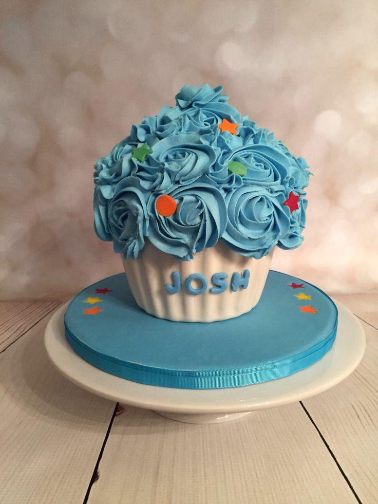 Cake Images Karan : 1st birthday smash cake with giant buttercream roses ...