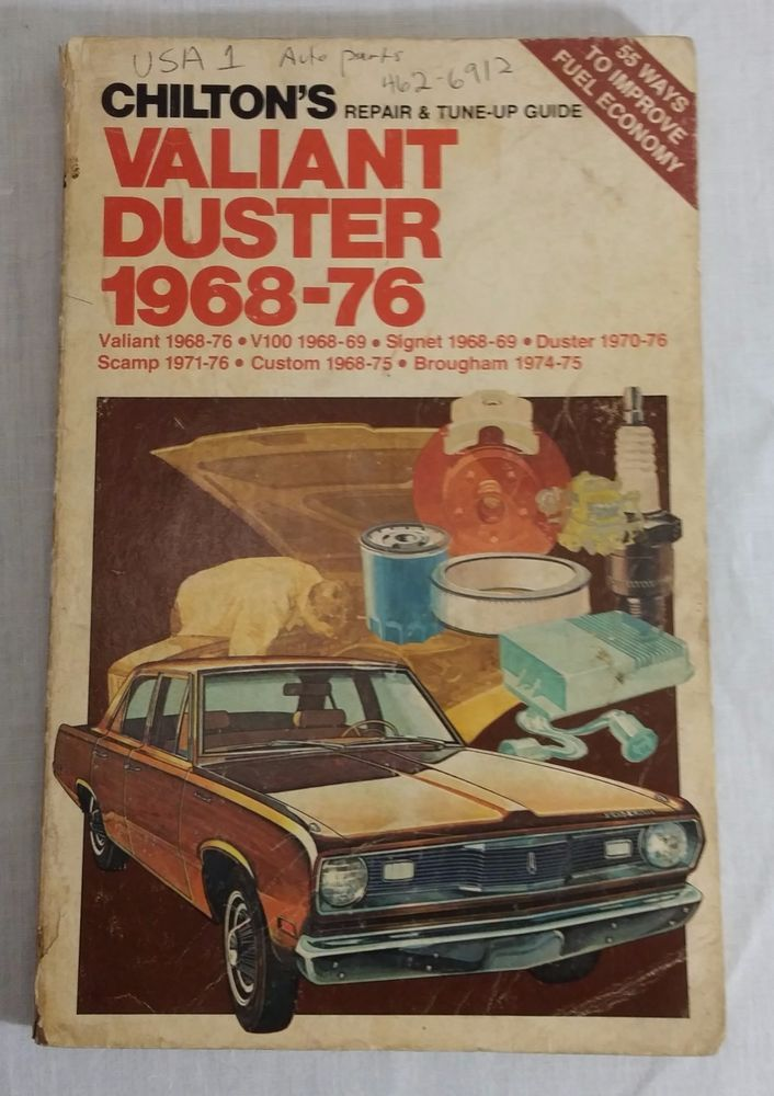 Chilton Repair Manual 6326 Valiant Duster Signet Scamp Custom Brougham 1968-1976