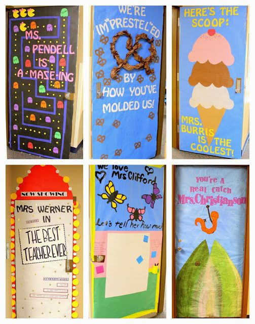 Crafty Sisters: Teacher Appreciation Door Decorations 2015