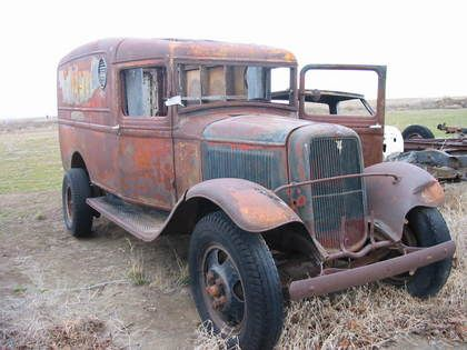 Old Ford Flatbed Trucks for Sale | 1933 Ford 1 1/2 ton Panel truck flat head v8