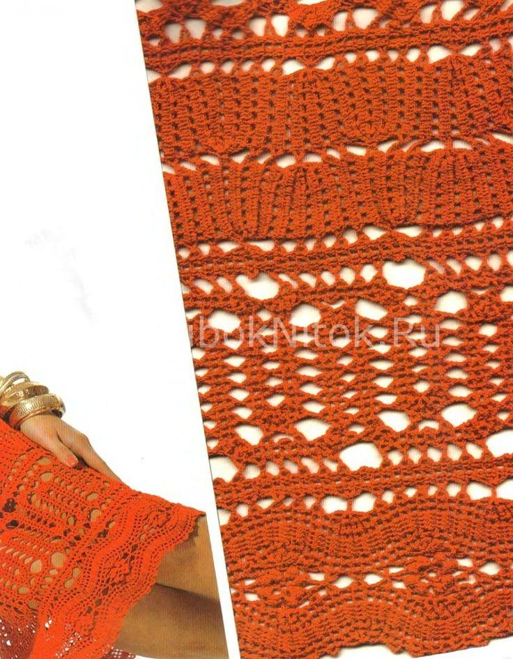 Красный сарафан Брюгге   Вязание для женщин   Вязание спицами и крючком. Схемы вязания.