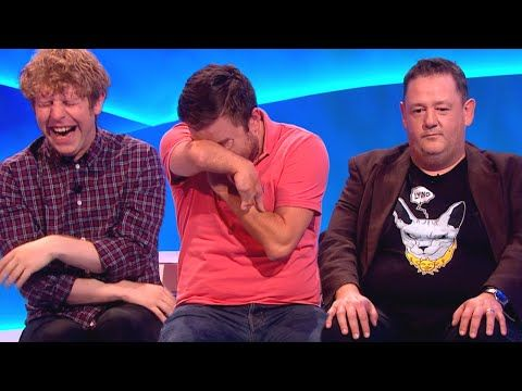 Johnny Vegas causes laughter havoc after 'The Last Leg' live show while they try to record promos.