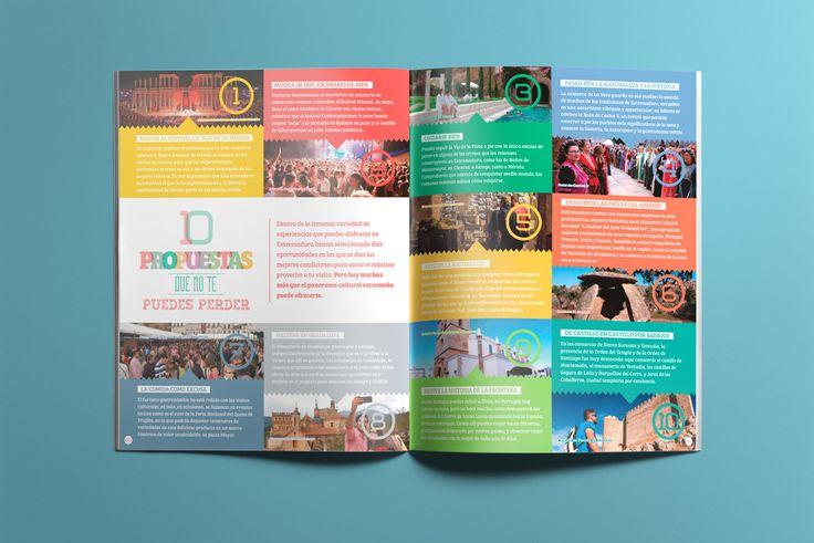 Capítulo: Propuestas culturales: Folleto turístico | Extremadura Cultural | Laruinagrafica.