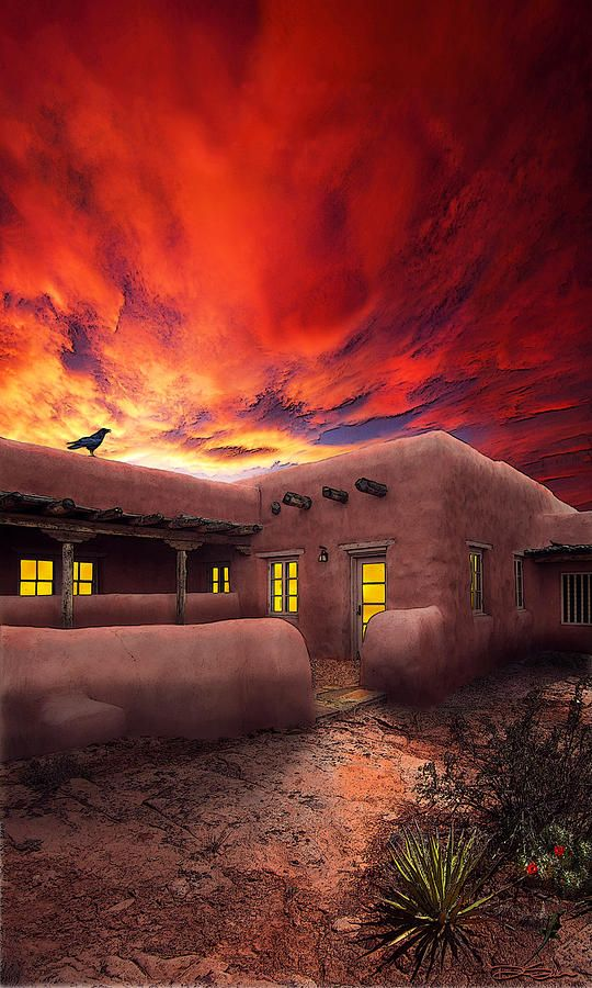 ✯ Adobe Sunset. New Mexico >>> I want to move to New Mexico one day. I love it there!
