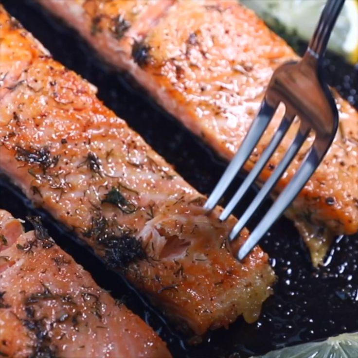 Easy Pan Seared Salmon