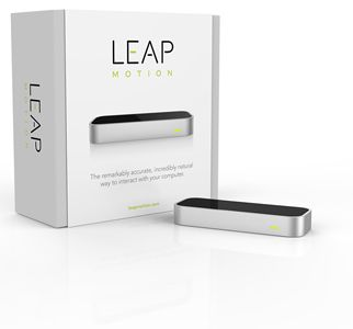 Leap Motion. Plugs into your computer so you can control it using gestures.