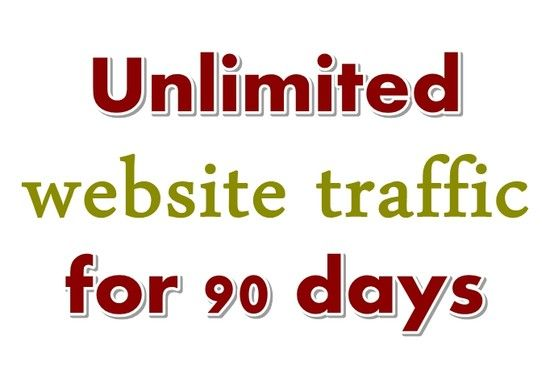 I will send Unlimited Website Traffic to your website for next 90 days by my REAL promotion.