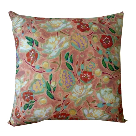 Peonies Cushion Cover in Peach - hardtofind.