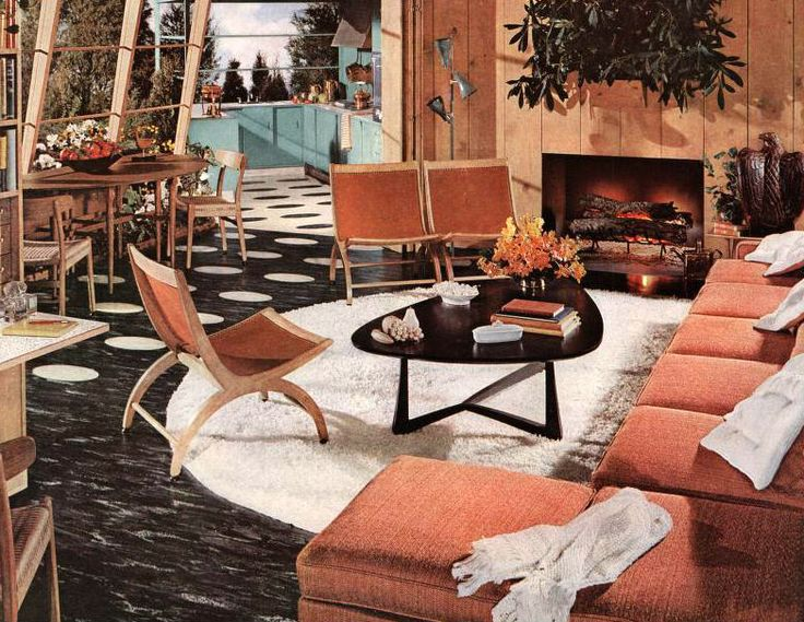 1954 Atomic Living Room By American Vintage Home This Would Make A Great Pool Side Cabana Style