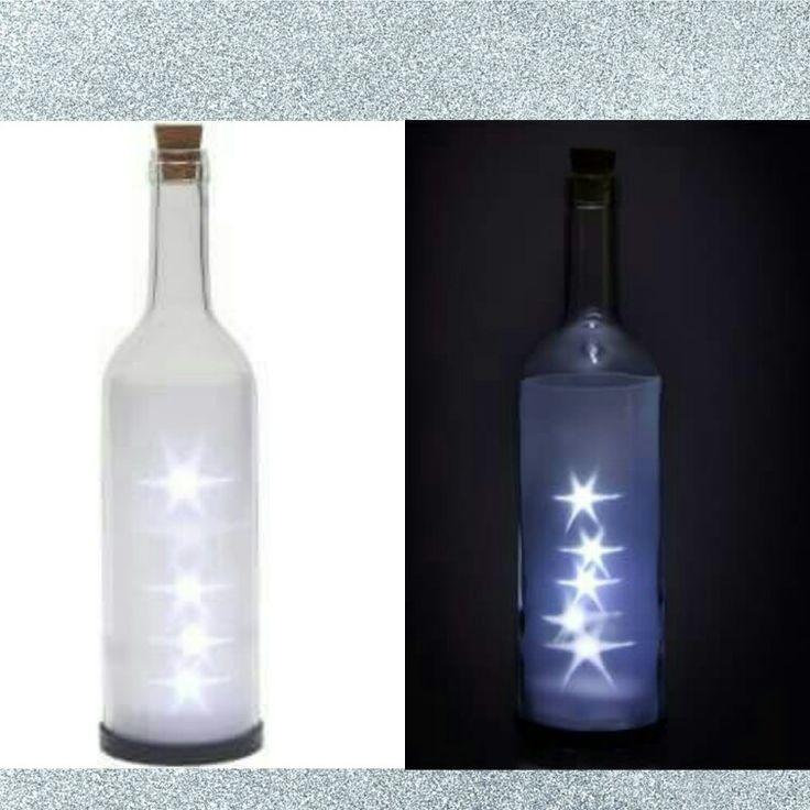 LED 3D Stars in a bottle