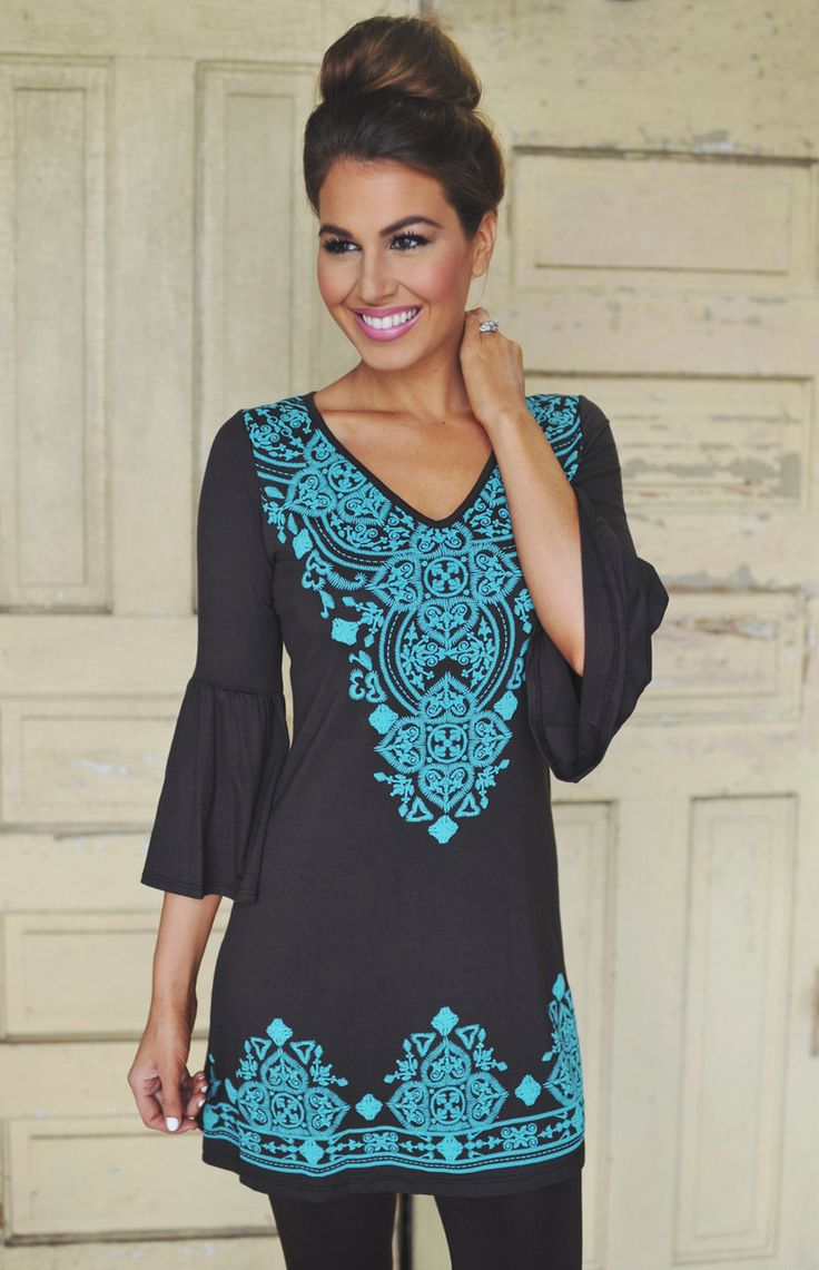 290 best Tunic Dresses for Everyday images on Pinterest   Tunic ...