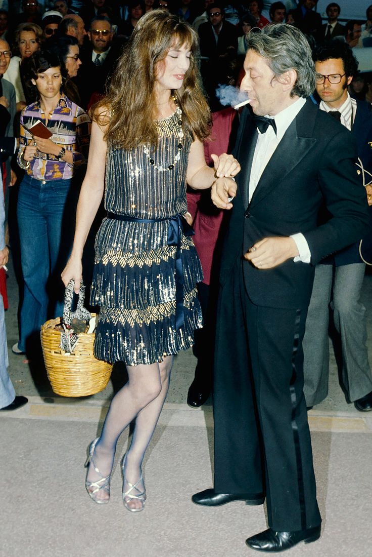 Serge Gainsbourg and Jane Birkin at Cannes, 1974