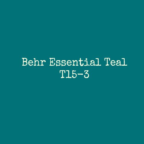 Behr Essential Teal BHG Color Palette of the Year 2015 Code