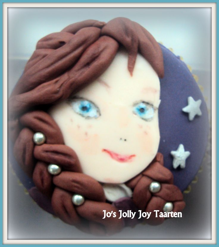 Jo's Jolly Joy taarten; een van de cupcakes, prinses Anna, uit de fim; Frozen