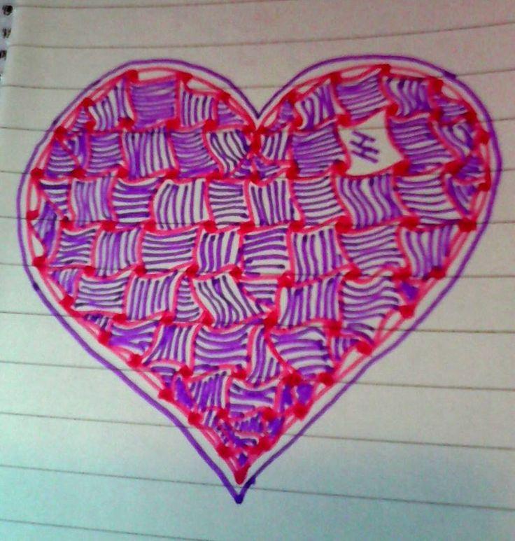 Fialové srdce...